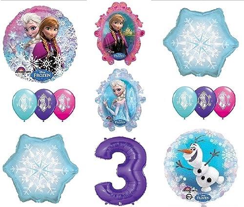 excelentes precios LoonBalloon FROZEN Anna ELSA ELSA ELSA OLAF Snowman Snowflake 3rd  3 12 Birthday Party Balloons Set O by LoonBalloon  comprar barato