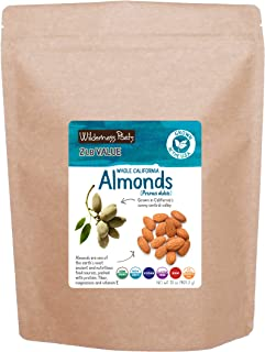 Wilderness Poets California Almonds - Organic Raw Almonds, 2 Pound (32 Ounce)