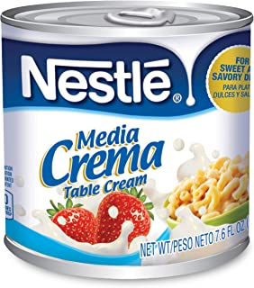 Media Crema Table Cream Cans – Add Rich, Creamy Texture to Sweet and Savory Dishes, Shelf Stable Table Cream, 8 Count