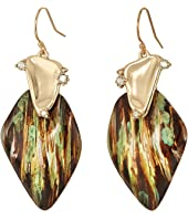 Alexis Bittar - Wood Grain Wire with Satellite Crystal Detail Earrings