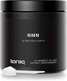 Ultra High Purity NMN Powder - 40 Grams - 99.7% Pharmaceutical Grade for Enhanced Absorption - Fully Stabilized Formula - ...
