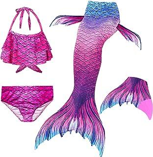 Le SSara 2018 Nuove Ragazze Mermaid Code Bikini Costume da Bagno Set 4 Pezzi Costumi da Bagno con Pinna per Nuotare Partit...
