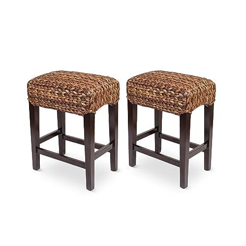 Amazing Seagrass Bar Stools Amazon Com Short Links Chair Design For Home Short Linksinfo