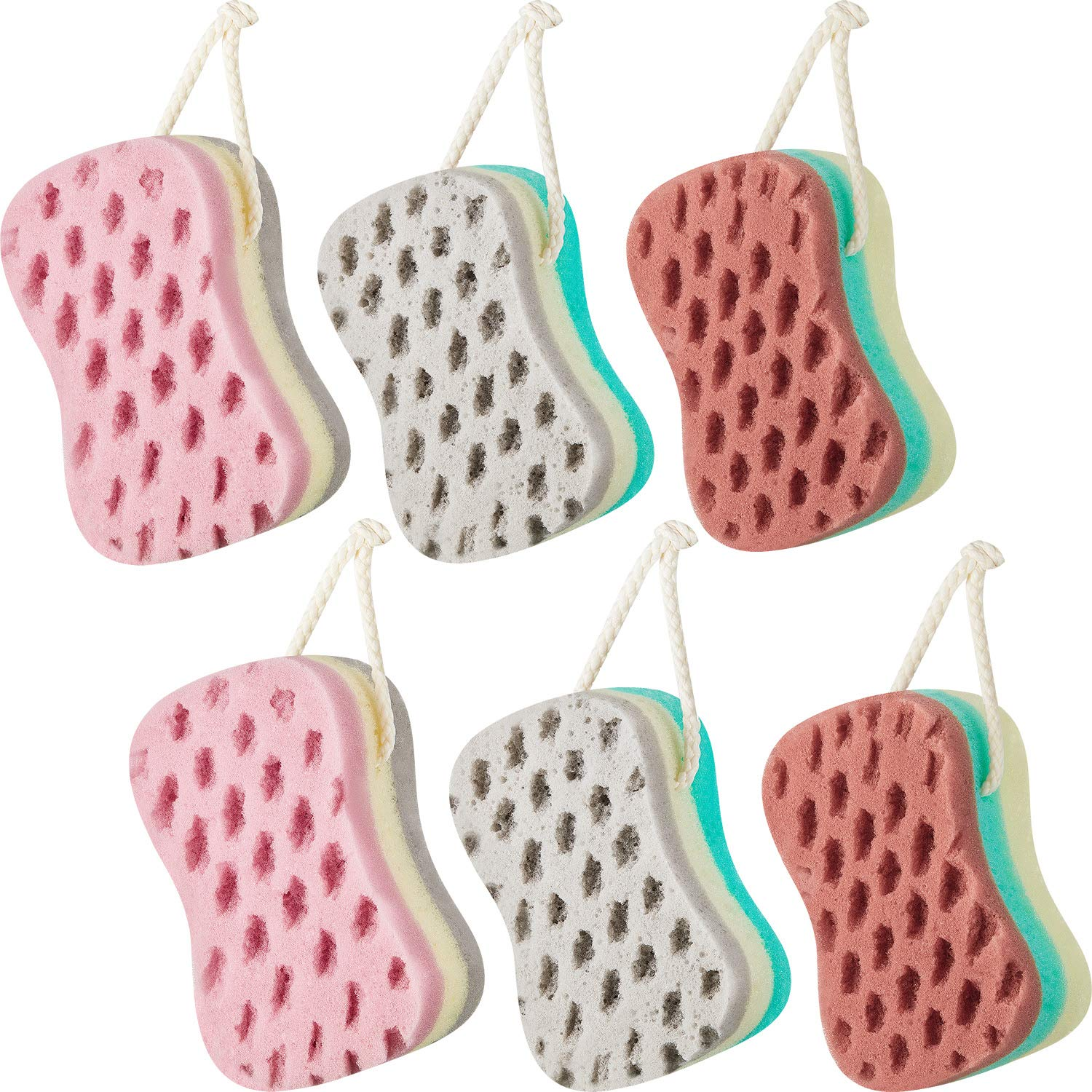 Max 86% OFF 6 Pieces depot Soft Bath Sponge Nat Exfoliating Shower Soothing