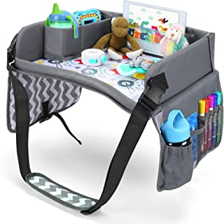 Lil Tots Gear Kids Travel Activity Lap Tray, Car Seat Stroller Road Trip Plane Train Portable Traveling Accessories Play, ...