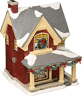 Department56 Original Snow Village Norman Rockwell's Christmas Eve Lit Building, 8.25