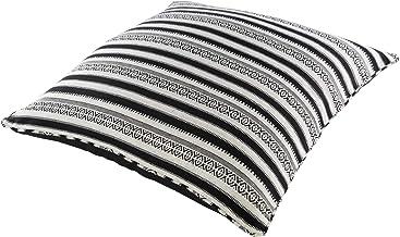 سوريا Maya x 30 بوصة طقم وسادة، 30 بوصة x 30 بوصة، أسود، أبيض