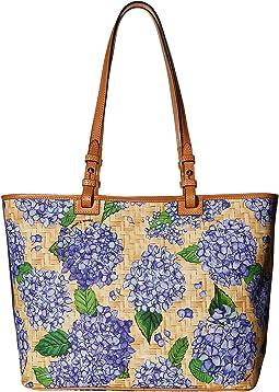 Hydrangea Basket Weave Leisure Shopper