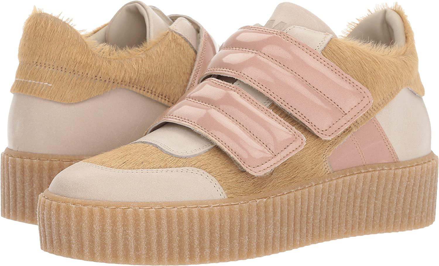 MAISON MARGIELA MM6 Womens Mixed Material Creeper Low Top