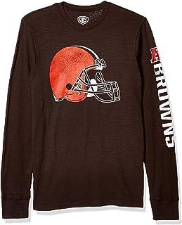 OTS NFL Mens NFL Cleveland Browns Men's Slub Long Sleeve Team Name Tee