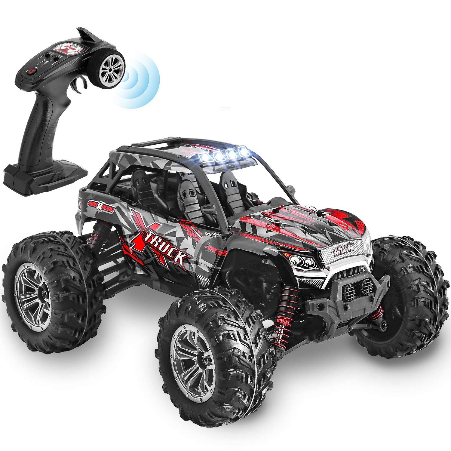 Hishertoy 4wd Rc Trucks For Adults Ipx4 Waterproof Rc Cars High Speed Remote Control Cars 4x4 For Boys Girls 1 16 36km H Off Road Rc Vehicles For Kids Monster Truck Buggy Rock