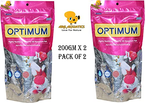 Shivi Pets Optimum Fish Food Pack of 2 (200g x 2)