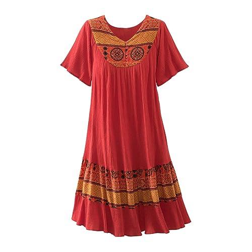 918004f6e69 National Santa Fe Border Print Dress