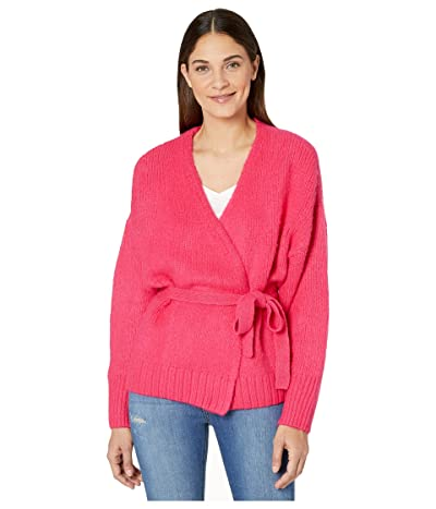 1.STATE Belted Jersey Stitch Cardigan (Rapture Pink) Women