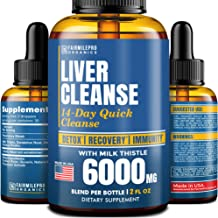 Sponsored Ad - Liver Cleanse Detox & Repair Formula – Liver Support Dietary Supplement with Milk Thistle 6000 mg – Natural...