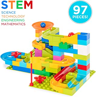 Best Choice Products 97-Piece Kids Create Your Own Marble Run Set w/ 4 Balls