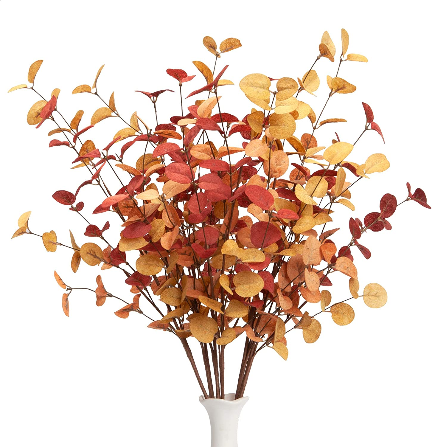 VGIA 6 Pcs Artificial Eucalyptus Sale item Fall Manufacturer direct delivery with Fal Stems Decorations