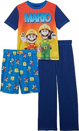 Super Mario Three-Piece Short Sleeve Set (Little Kids/Big Kids)