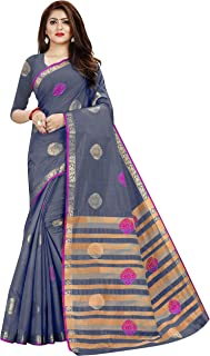 Neerav Exports Patlani Style Kanjivaram Tusser Silk Designer Saree (Grey)