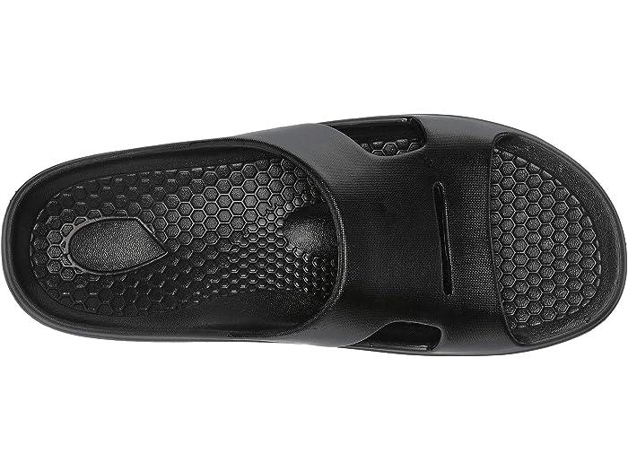 Womens Recovery Sandal Black-Fade Spenco Fusion 2 Slide 8 Medium