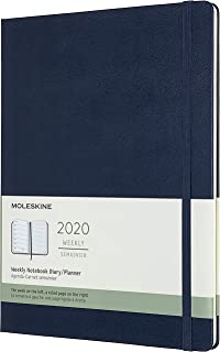 Moleskine Classic 12 Month 2020 Weekly Planner, Hard Cover, XL (7.5