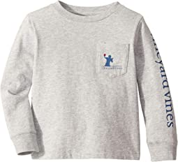 Long Sleeve Tip-Toe Touchdown Pocket Tee (Toddler/Little Kids/Big Kids)