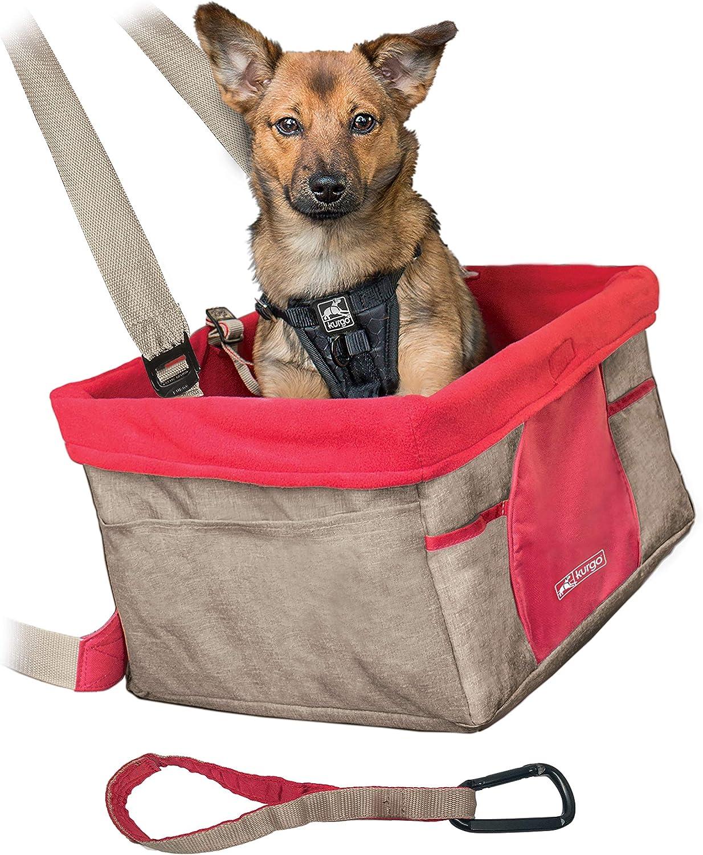 Kurgo Skybox Sitzerhöhung Auto Für Hunde Haustiere Hunde Autositz Inkl Hunde Anschnallgurt Auto Farbe Heather Muskatnuss Haustier