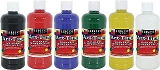Sargent Art 16 Ounce Bottles, 6, Art-Time Washable Tempera Paint, 17-3406, 6 Piece
