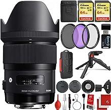 Sigma 35mm f/1.4 Art DG HSM Lens Canon EOS EF-Mount Bundle with 2X 64GB Memory Cards, IR Remote, 3 Piece Filter Kit, Wrist...