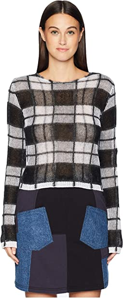 Sheer Check Jumper