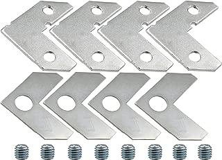 LBY 40pcs Picture Frame L Shape Angle Bracket Flat Plate Fastener Metal Picture Frame Hardware Corner Gasket Silver