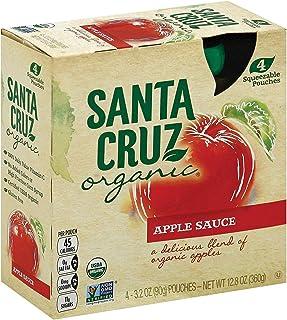 Santa Cruz, Organic Applesauce Pouches, 3.2 Oz (pack of 4)