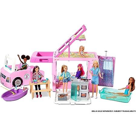 【Amazon.co.jp限定】 バービー(Barbie) ドリームキャンパー 3WAY 【着せ替え人形・ハウス 】【ハウス、アクセサリー付き】【3歳~】 GHL93
