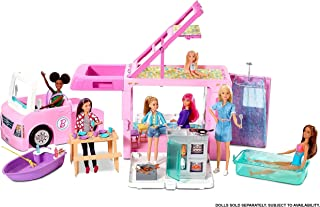 Barbie, Kamper 3 W 1 Zestaw Do Zabawy Z Akcesoriami GHL93