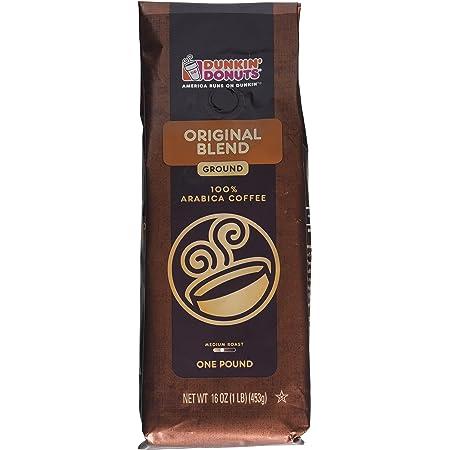 Amazon Com Dunkin Donuts Ground Coffee Original Blend 1 Lb Grocery Gourmet Food