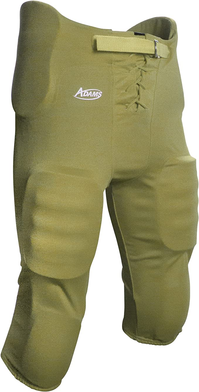 ADAMS USA Youth Football Pant with Sewn in Pads Medium Black
