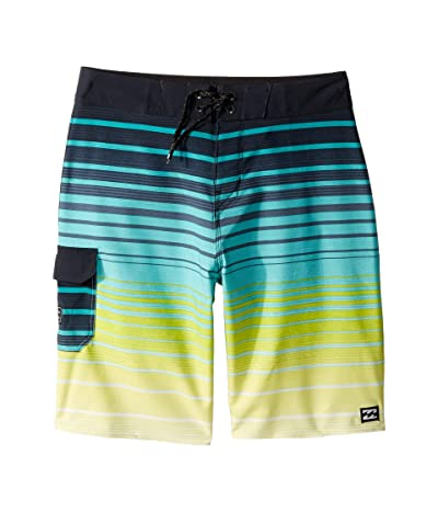 Billabong Kids All Day Stripe Pro Boardshorts (Big Kids) (Neon Yellow) Boy