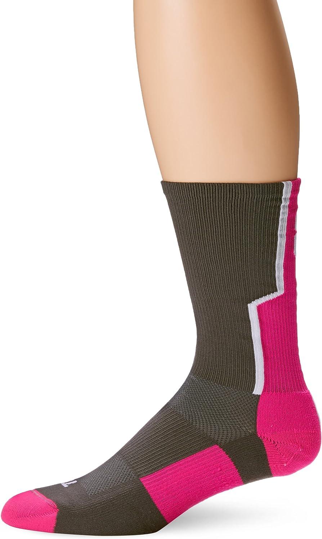 TCK Player Id Number Crew Sock  Pink Graphite White
