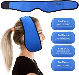 LotFancy Gel Ice Pack with Wrap, Reusable Hot Cold Pack for Therapy, Pain Relief for TMJ,..
