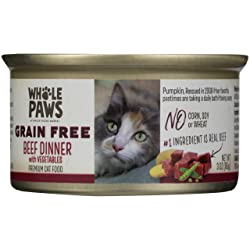 Whole Paws Grain Free Beef Dinner With Vegetables, 3 Oz