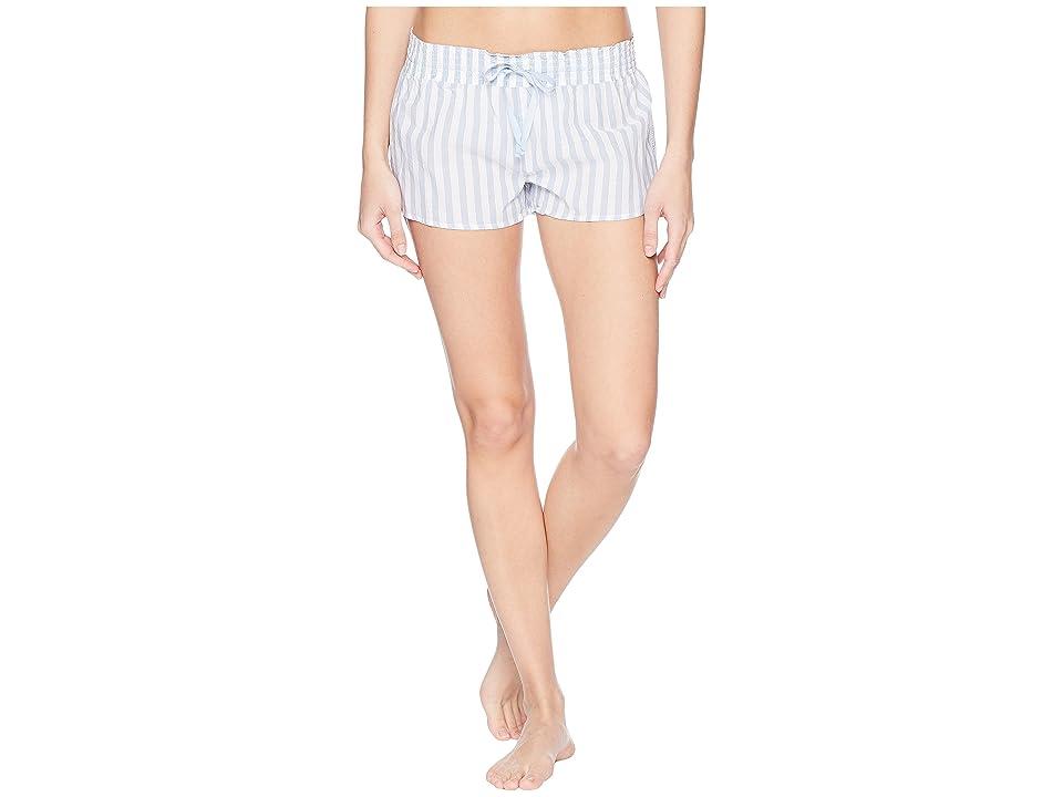 P.J. Salvage Denim Blues Striped Shorts (Blue) Women