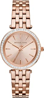 Michael Kors Darci Three-Hand Watch with Glitz Accents, 33mm