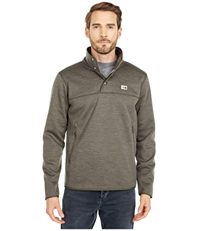 The North Face Sherpa Patrol 1/4 Snap Pullover (New Taupe Green White Heather) Men