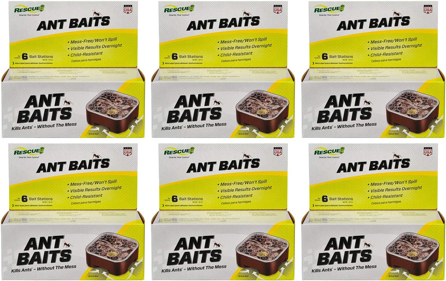 RESCUE Ant Baits 6-Count Indoor Use 36 Bait store Manufacturer OFFicial shop Stations Pack 6 -