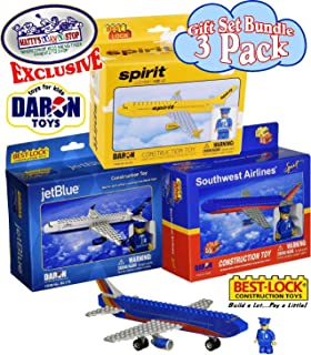 Daron Best Lock JetBlue (55pcs), Spirit (62pcs) & Southwest (62pcs) Construction Airplane Kits