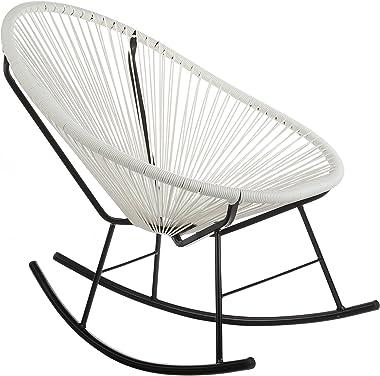 Joseph Allen Home PV-MR-W Acapulco Rocking Chair, White