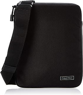 حقيبة الكتف المسطحة برو من كالفن كلاين، لون اسود، 25 سم - K50K505284
