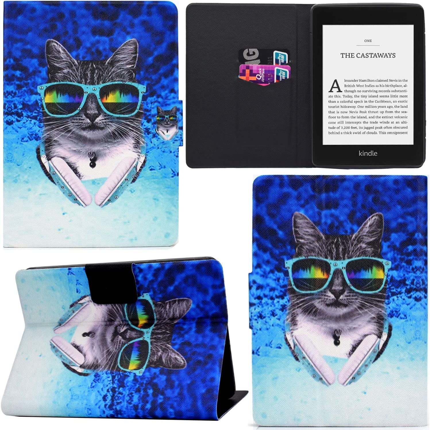 Black Dog DodoBuy Case for Huawei MediaPad T5 10.1 PU Leather Flip Smart Cover Thin Wallet Bag Holder Stand with Card Slots Magnetic Closure