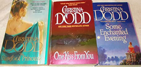 Christina Dodd: 3 Book Set: Softcover: The Barefoot Princess: One Kiss From You: Some Enchanted Evening: Very Good.