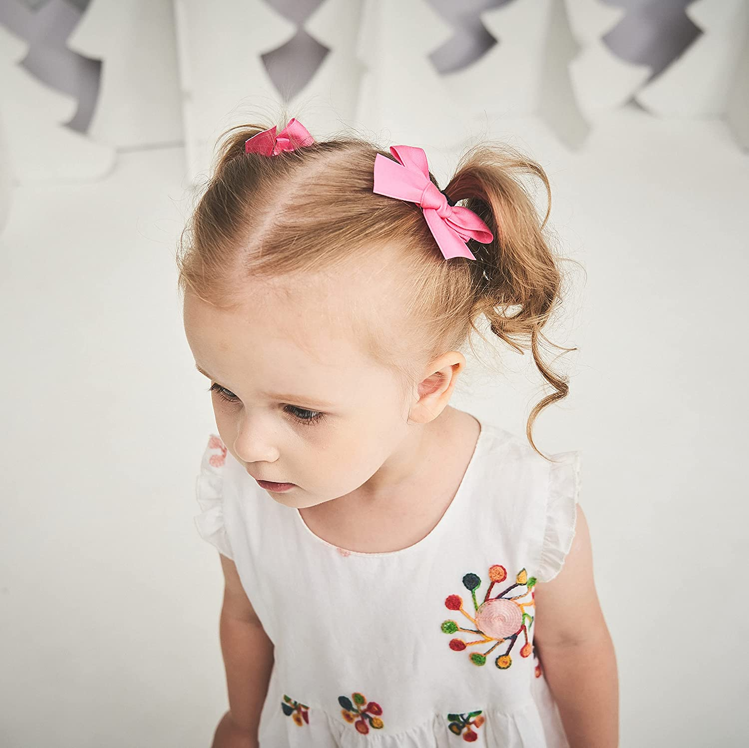 40pcs 3inches Baby Girls Hair Bows Clips Full Lined Hair Barrettes Accessories for Toddlers Kids School Girls in Pairs